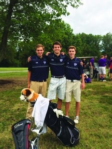 Seniors Jack Eastwood, Ian Cleary and  Jonathan Reeder end their careers as NHS golfers.
