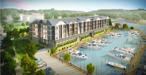 The planned Harbor Vista South Apartments on Fisherman's Creek.