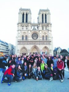 Northern students on the Paris trip during spring break this year. This change may end such trips.