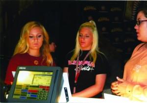 Alumna Bri Zych, seniors Brooke Nastasi and Kayla Mills at last year's Project Grad